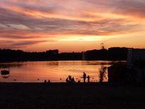 See, Badesee, Natur, Sonnenuntergang