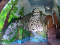 Wasserfall, Malerei, Mix