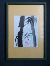 Bambus, Siegel, Tusche, Schwarz