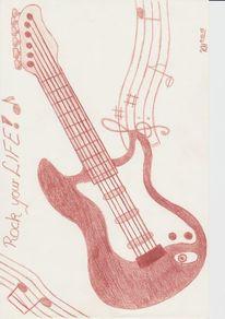 Felsen, Gitarre, Musik, Musikinstrument