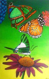 Acrylmalerei, Schmetterling, Malerei, Grün