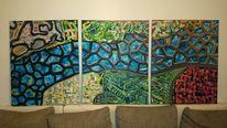 Pinselstriche, Gestisch, Kontrast, Ölmalerei