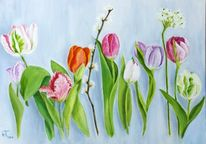 Tulpen, Malerei, Blumen, Pflanzen
