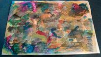 Zeitung, Collage, Gouachemalerei, Malerei