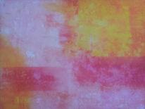 Gelb, Abstrakt, Acrylmalerei, Weiß
