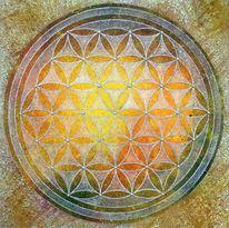 Blume des lebens, Goldene schnitt, Heilige geometrie, Lebensblume