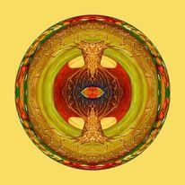 Mystik, Spirituell, Lebensbaum, Bunt