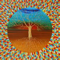 Spirituell, Baum, Lebensbaum, Sonnenuntergang