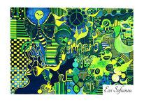 Schwarzlicht, Freihand, Fantasie, Acrylmalerei