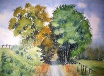 Baum, Schatten, Hattingen, Aquarell