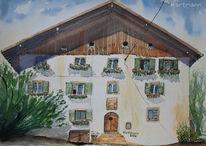 Südtirol, Völlan, Bauernhaus, Schatten