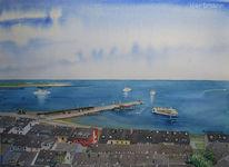 Helgoland, Dach, Wasser, Schiff