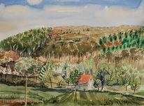 Hattingen, Landschaft, Wald, Gehöft