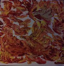 Feuer, Vogel, Phoenix, Malerei