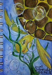Seifenblasen, Freude, Schildkröte, Malerei