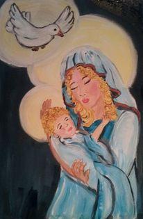 Kind, Heiliger geist, Mutter, Malerei