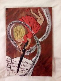 Gedicht, Wirbel, Frau, Malerei