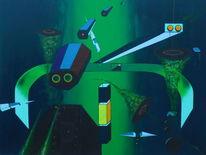 Abstrakt, Surreal, Acrylmalerei, Malerei