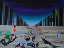Surreal, Abstrakt, Acrylmalerei, Malerei