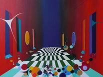 Acrylmalerei, Surreal, Abstrakt, Malerei