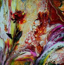 Abstrakt, Rose, Malen, Blumen