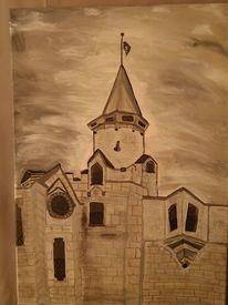 Acrxy, Grau, Kirche, Malerei