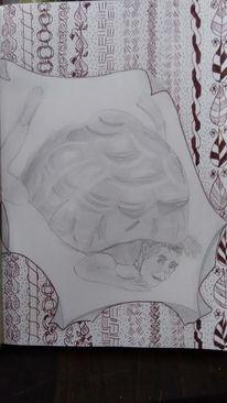 Fantasie, Zeichnung, Ausdruck, Bleistiftzeichnung