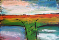 Landschaft, Abstrakt, Farben, Acrylmalerei