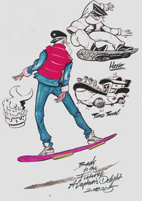 2015, Illustration, Lustig, Hoverboard
