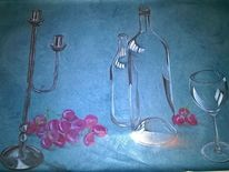 Bleistiftzeichnung, Glas, Metall, Zeichnung