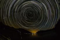 Stern, Langzeitaufnahme, Startrails, Meteor