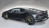 Lamborghini huracan, Ölmalerei, Autrag, Fotorealistische malerei