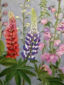 Blüte, Realismus, Blumen, Malerei
