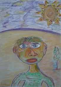 Menschen, Baum, Sonne, Kopf