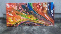 Abstrakt, Pouring, Acrylmalerei, Malerei