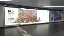 2017, Wien, Ubahn, Pinnwand
