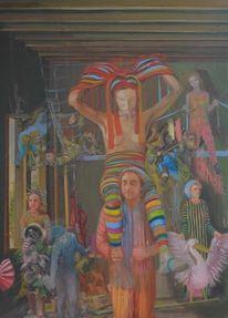 Ölmalerei, Surreal, Figurativ, Modern