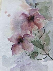 Frühling, Blumen, Pastellmalerei, Blüte