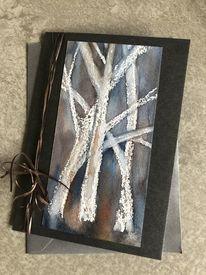 Trauer, Wald, Baum, Trauerkarte