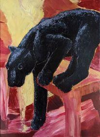 Tiere, Gelb, Schwarz, Malerei