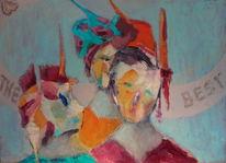 Wettbewerb, Frau, Malerei,