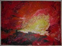 Landschaft, Acrylmalerei, Abstrakt, Lava