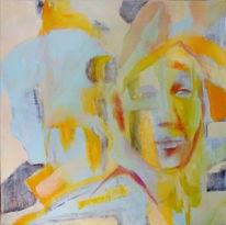 Rot, Portrait, Bleu, Gelb
