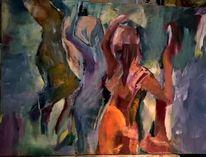 2015, Menschen, Acrylmalerei, Abstrakt