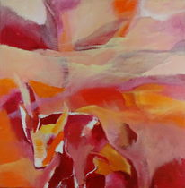 Hitze, Rot, Orange gelb, Malerei
