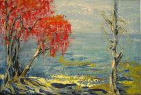 Wasser, Ufer, Stille, Malerei