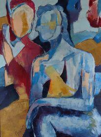 Rot, Gelb, Figur, Malerei