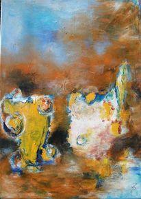 Gelb, Braun, Weiß, Malerei