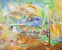 Gelb, Braun, Blau, Malerei