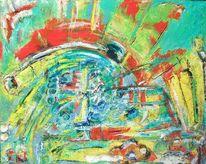 Bunt, Gelb, Rot, Malerei